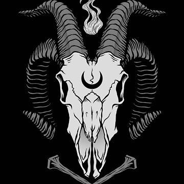 Okkulter Ziegenschädel von deniart
