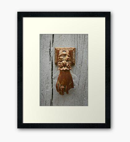 Knock, knock... Framed Print