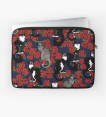 Cats and Roses Le Chat Noir Calico Laptop Sleeve