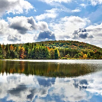 Fall Lake Reflection by rollosphotos