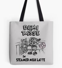 Steamed Milk Latte Tote Bag