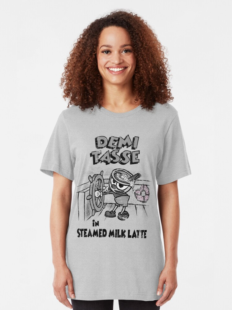 Alternate view of Steamed Milk Latte Slim Fit T-Shirt