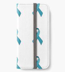 Turquoise Awareness Ribbon Sticker Set iPhone Wallet/Case/Skin