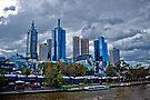 Melbourne Skyline from Princes Bridge by eegibson