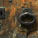 Old Wooden Door with Keyholes by Anna Lemos
