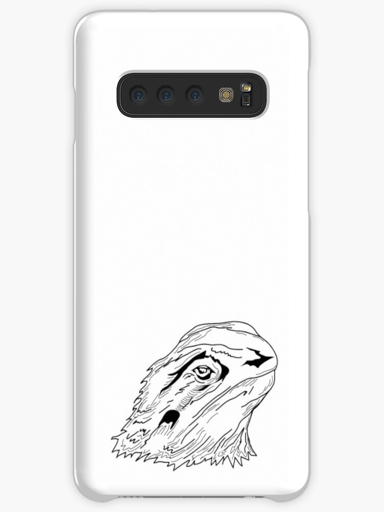 Bearded Dragon Line Drawing Cases Skins For Samsung Galaxy By