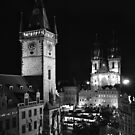 Prague by Night by Lenka Vorackova