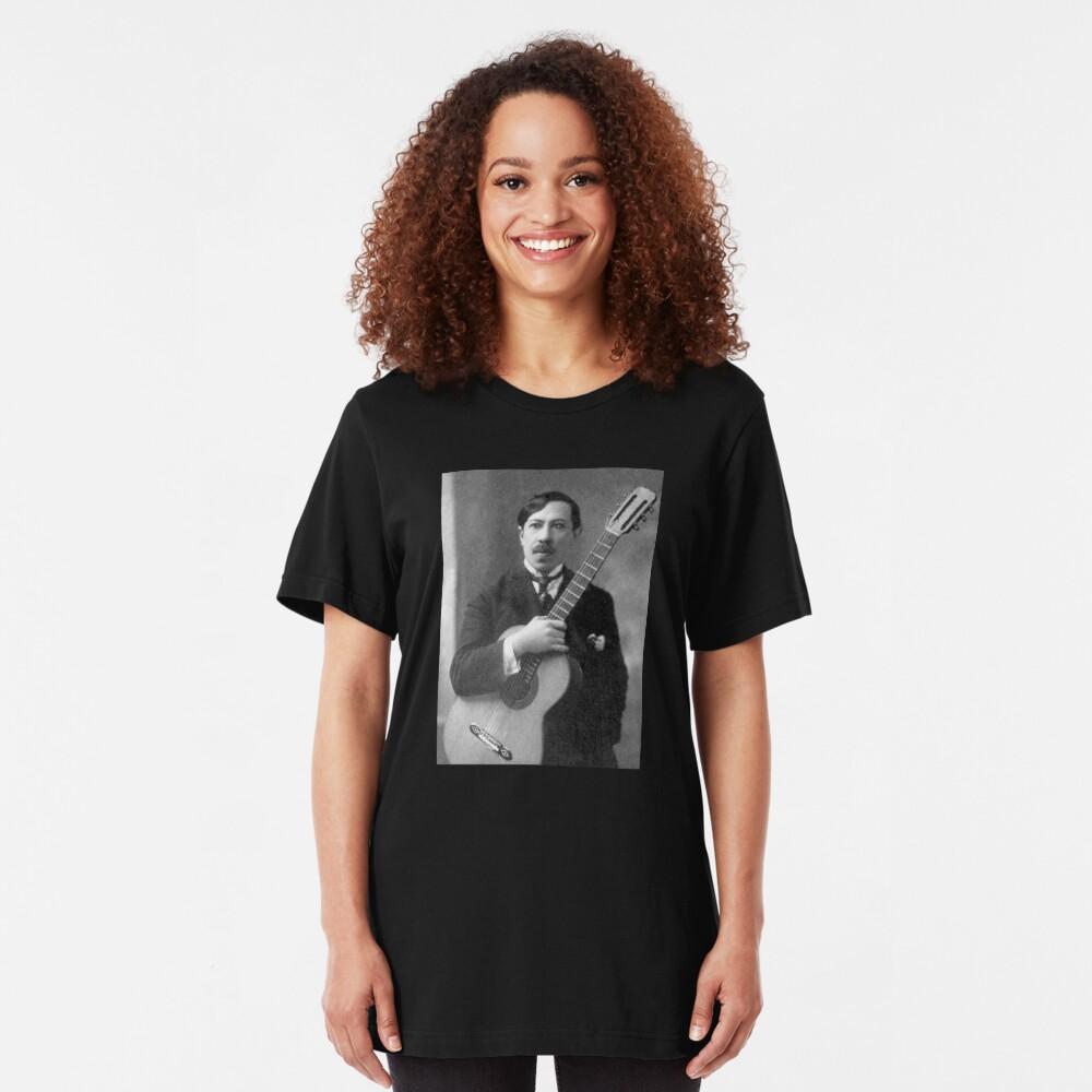 Augustin Barrios - Brilliant Paraguayan Guitarist and Composer Slim Fit T-Shirt