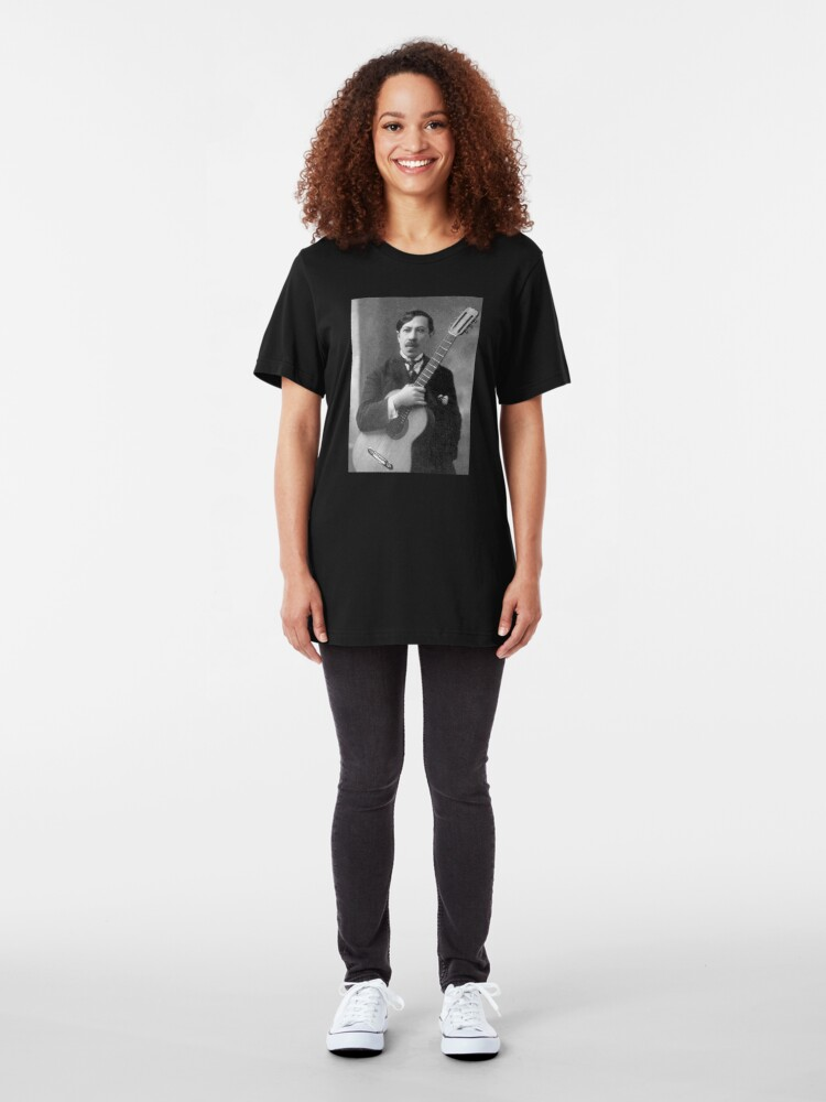 Alternate view of Augustin Barrios - Brilliant Paraguayan Guitarist and Composer Slim Fit T-Shirt