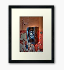 Hot Line Framed Print