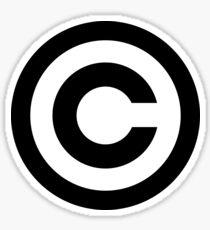Copyright C logo Sticker
