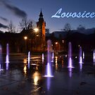 City fountain with text Lovosice by Lenka Vorackova