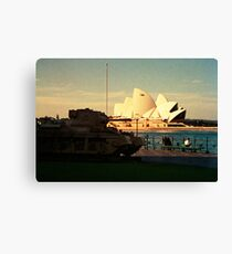 Opera House and little Tank Canvas Print