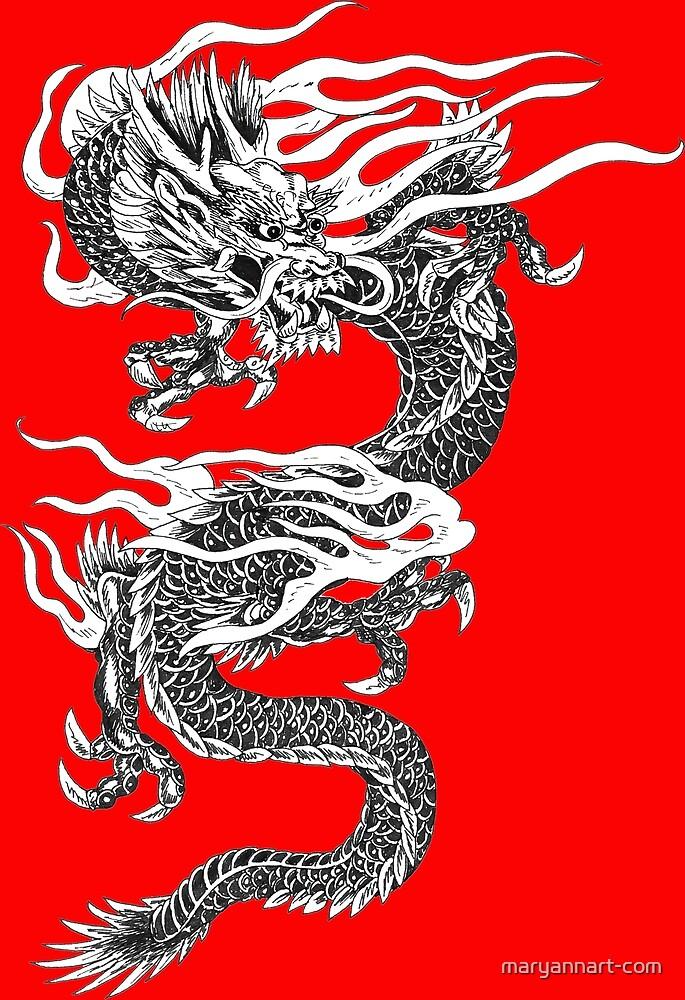 Twisting Dragon by maryannart-com