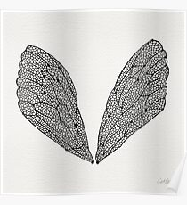 Black Cicada Wings Poster