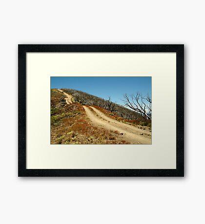 The Climb,Blue Rag Track Framed Print