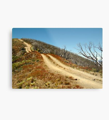 The Climb,Blue Rag Track Metal Print