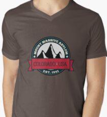 Outlast - Mount Massive Asylum Crest Mens V-Neck T-Shirt