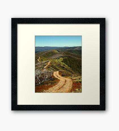 Razor Back Drive,Mt Blue Rag Framed Print