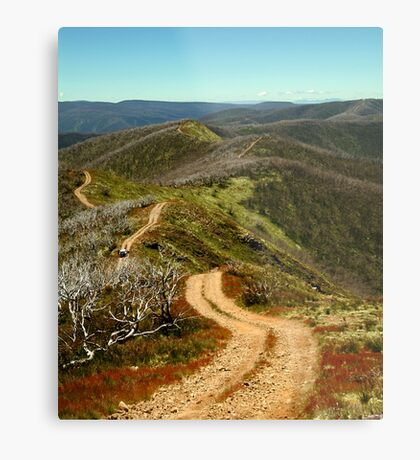 Razor Back Drive,Mt Blue Rag Metal Print