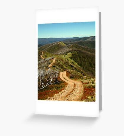 Razor Back Drive,Mt Blue Rag Greeting Card