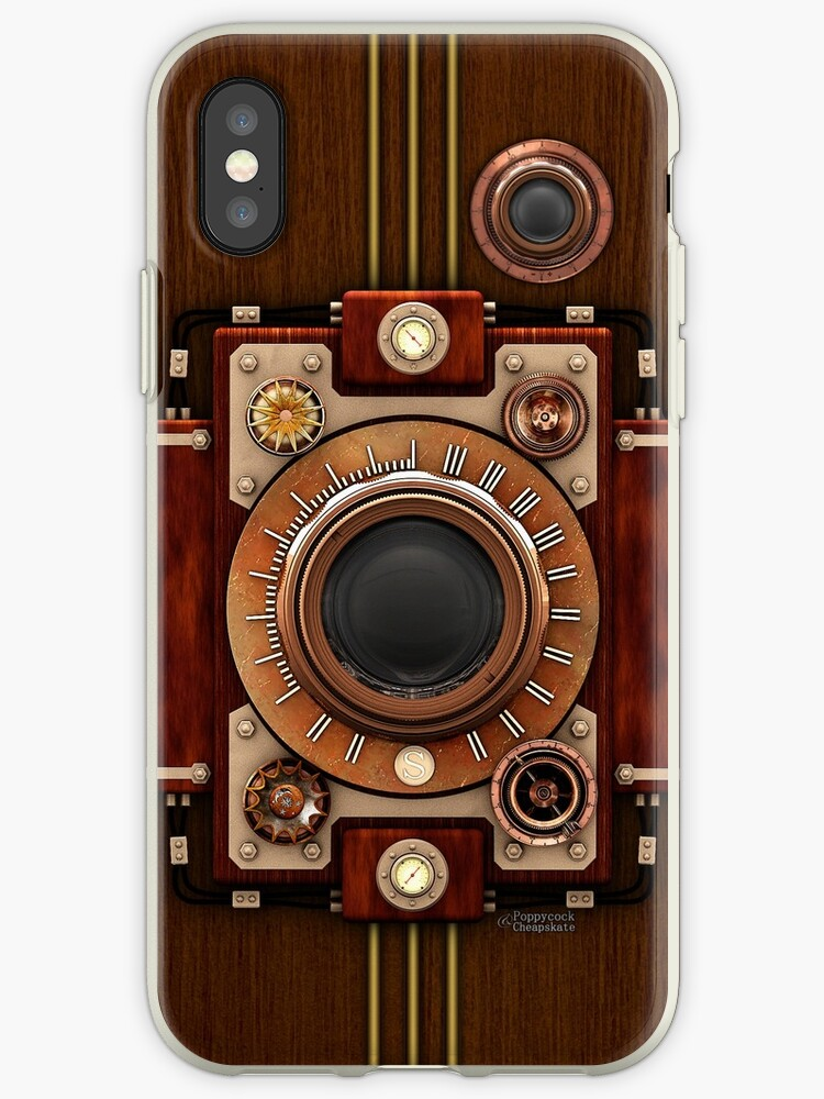 Vintage Steampunk Camera No.1A Steampunk phone cases by Steve Crompton