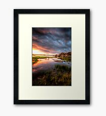 The Calm and the Storm 1 Framed Print