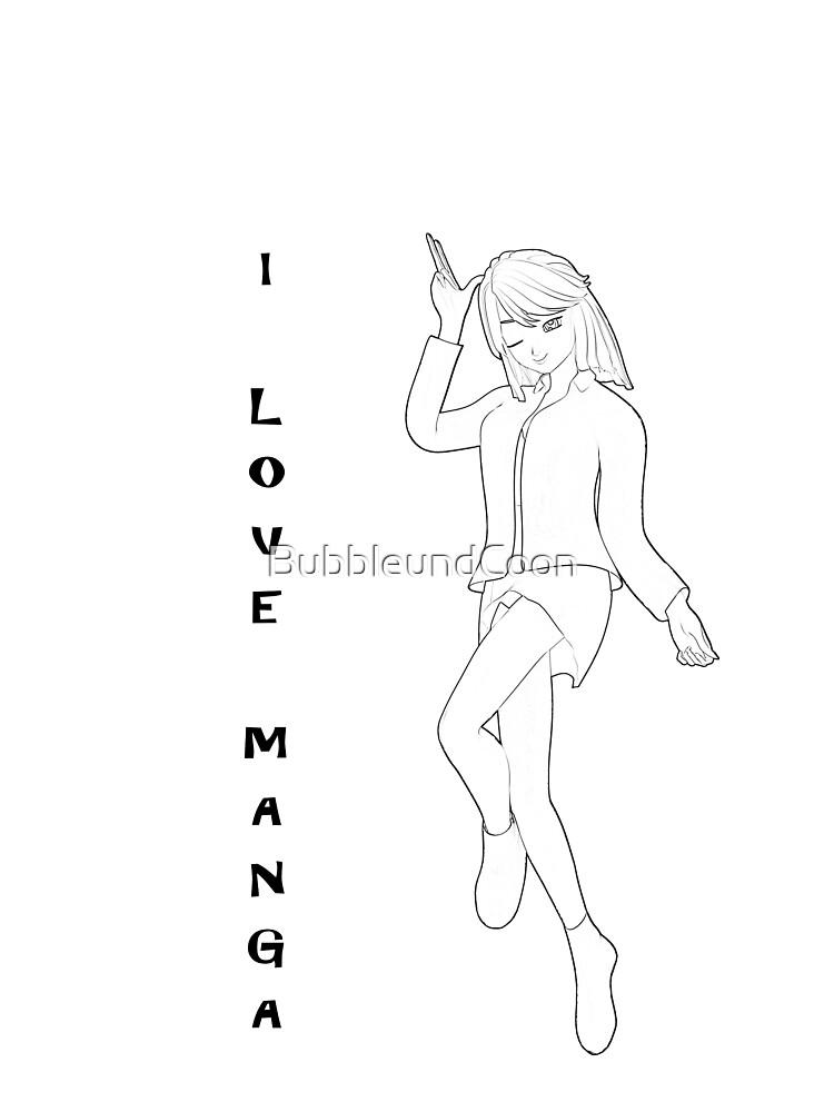 süßes Manga Mädchen von BubbleundCoon