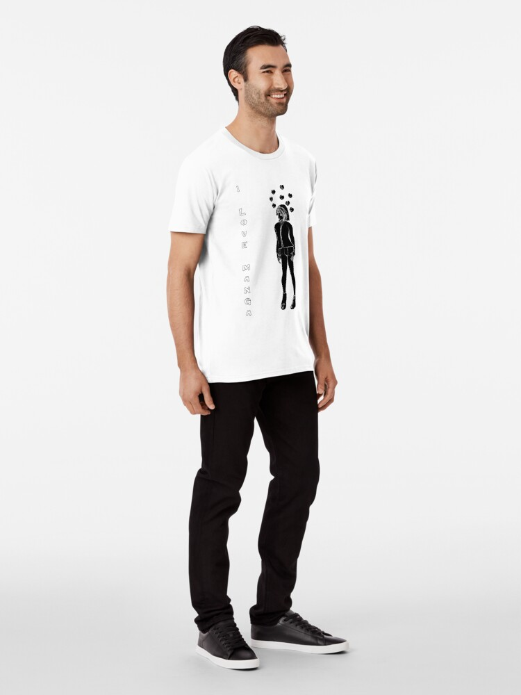 Alternative Ansicht von Silhouetten Manga Shirt Premium T-Shirt
