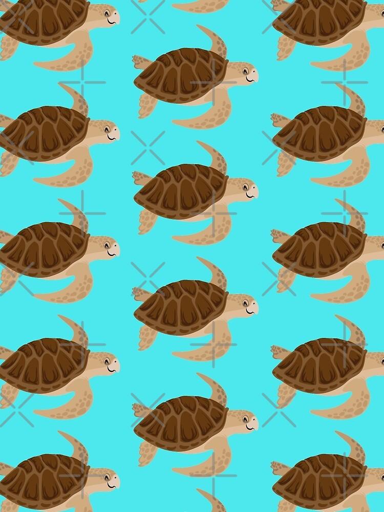 Glückliche Dummkopf-Meeresschildkröte von PepomintNarwhal