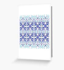 Whimsical Geometry In Blue  Greeting Card