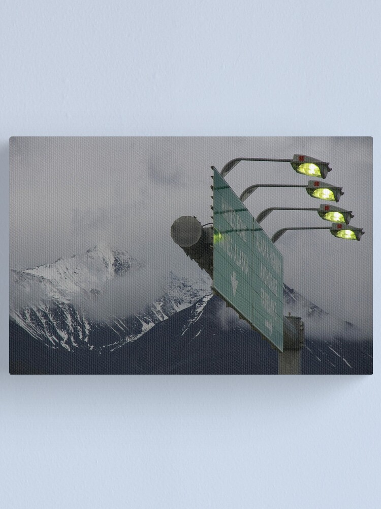 Alternate view of All Roads Lead To Alaska, Buddy Canvas Print