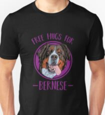 Bernese Mountain Dog | Free Hugs For Bernerse Slim Fit T-Shirt