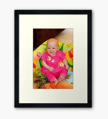 Happy Girl Framed Print
