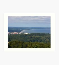 Views of a seaside resort from the top of a tower Art Print
