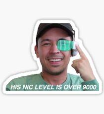 Sein nettes Level ist über 9000 Sticker