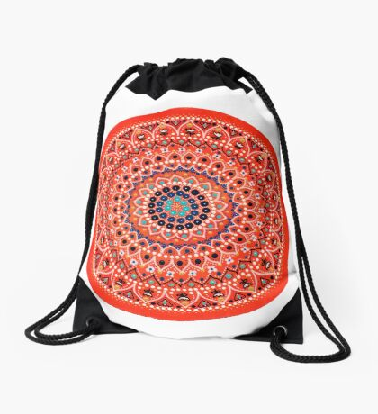 Mandala 3 Drawstring Bag