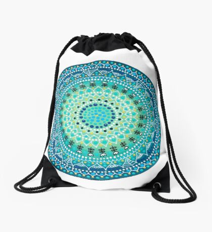 Mandala 4 Drawstring Bag