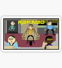 Refined in Space Glossy Sticker