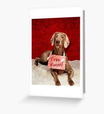 Free Kisses   Greeting Card
