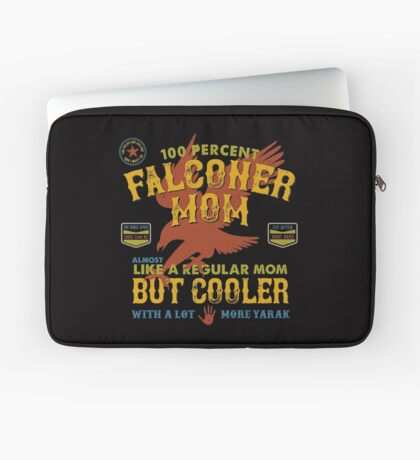 Fun Falconry Mom GIfts and Clothing for Hawking Moms and Falconer Mothers Laptop Sleeve