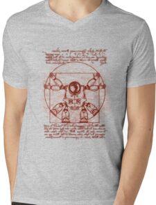 Vitruvian ribbon Mens V-Neck T-Shirt