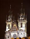 Tyn Church at Night by eegibson