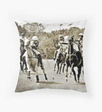Polo Ponys und Spieler fotografieren Dekokissen