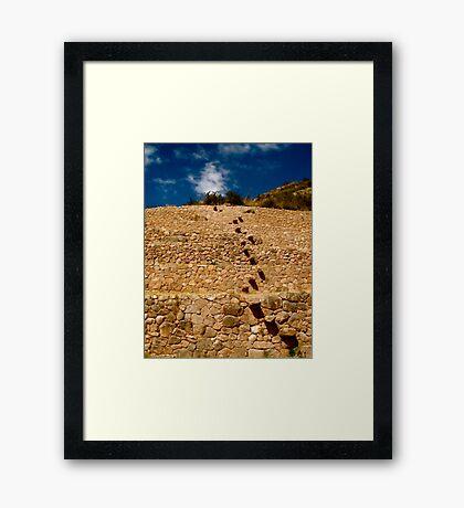Step by Step Framed Print
