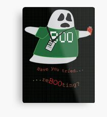 Stanley the Computer Programming Ghost Metal Print