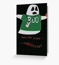 Stanley the Computer Programming Ghost Greeting Card
