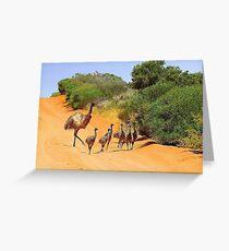 Emu Family  Greeting Card