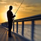 Early Morning Angler by Mel Sinclair