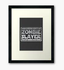 Zombie Slayer Framed Print